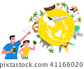 Trip to East asia, Travel Landmarks Vector Illustration 012 41166020