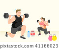 Doing exercises to lose Weight, health care concept illustration 005 41166023