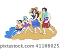 harmonious family Life, a lovely family vector illustration 002 41166025