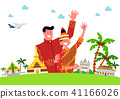 Trip to East asia, Travel Landmarks Vector Illustration 010 41166026