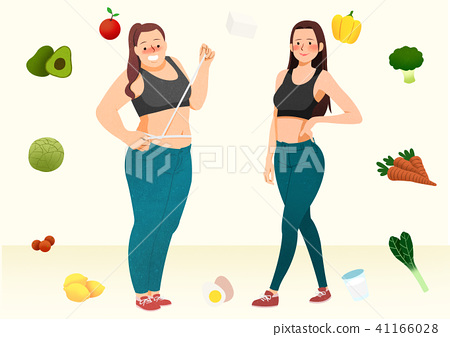 Doing exercises to lose Weight, health care concept illustration 001 41166028