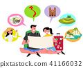 Trip to East asia, Travel Landmarks Vector Illustration 004 41166032