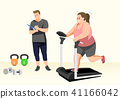 Doing exercises to lose Weight, health care concept illustration 016 41166042
