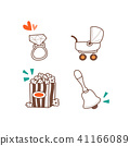Celebration icons set for event day vector illustration 034 41166089