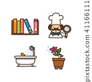 Vector - Related to life and daily flat icon set.033 41166111