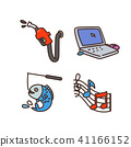 Vector - Related to life and daily flat icon set.037 41166152