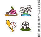 Vector - Related to life and daily flat icon set. 027 41166168