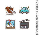 Vector - Related to life and daily flat icon set. 025 41166171
