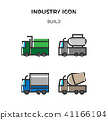 Set of Icon for eco energy, build, bitcoin and IoT industry. 017 41166194