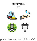 Set of Icon for eco energy, build, bitcoin and IoT industry. 013 41166220
