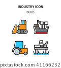 Set of Icon for eco energy, build, bitcoin and IoT industry. 019 41166232