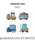 Set of Icon for eco energy, build, bitcoin and IoT industry. 018 41166233