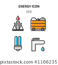 Set of Icon for eco energy, build, bitcoin and IoT industry. 014 41166235