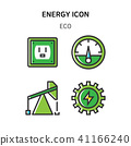 Set of Icon for eco energy, build, bitcoin and IoT industry. 008 41166240