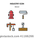 Set of Icon for eco energy, build, bitcoin and IoT industry. 026 41166266