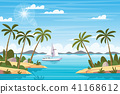 Tropical Landscape With Boat 41168612