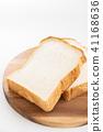 ขนมปังขาว,ขนมปัง,พื้นหลังสีขาว 41168636