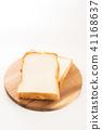 ขนมปังขาว,ขนมปัง,พื้นหลังสีขาว 41168637