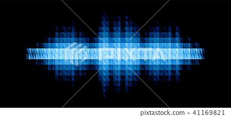Audio or music shiny sound waveform with triangular filter - Stock