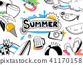 Summer doodles symbol and icon for beach party 41170158
