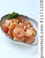 peeled, shrimp, prawn 41171208