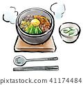 Brush stroked food stone-grilled bibimbap 41174484
