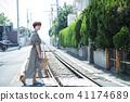 여성 여행 쇼난 에노시마 짧은 여행 산책 산책 홀로 여행 41174689