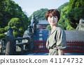 เดินทางหญิง Kamakura เดินรถสั้นเดินคนเดียว 41174732