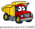 Cartoon Dump Truck Character 41174885