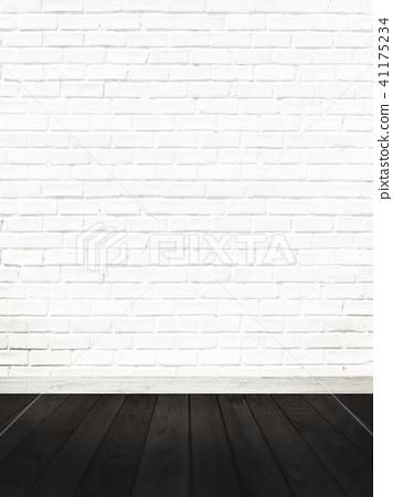 白墙 - 砖 - 地板 - 地板 41175234