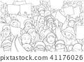 Illustration of demonstration in South Korea 41176026