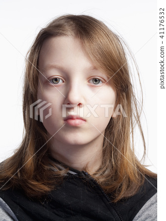 Portrait of a Boy with Long Hair 41176532