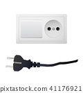 Electrical adapter with two outlet and switch. 41176921