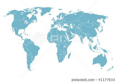 World map in perspective vector illustration stock illustration world map in perspective vector illustration gumiabroncs Images