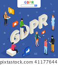 GDPR isometric concept. Vector illustration. 41177644