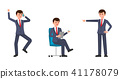 Vector illustration of upset businessmen 41178079