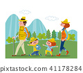 hiking, family, trekking 41178284
