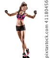 cardio boxing cross core workout fitness exercise aerobics woman 41180456
