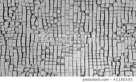 3D render Digital background of the many white squares 41180593
