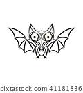 bat tattoo. Vector 41181836