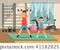 vector, fitness, gym 41182625