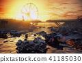 Apocalypse sunset landscape. 41185030