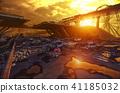 Apocalypse sunset landscape. 41185032