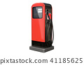 Red vintage gasoline pump isolated on white 41185625