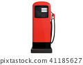 Red vintage gasoline pump isolated on white 41185627