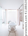 Cozy modern style bathroom bathtub natural light 41186020