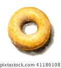 用水彩画的糖多福饼 41186108