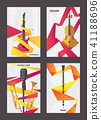 Vertical cards dedicated to live music instruments 41188696
