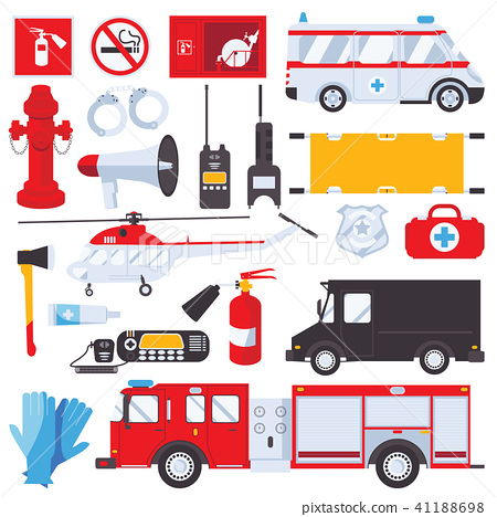 Resque services concept for ambulance, swat 41188698