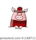 pig, vector, animal 41188711